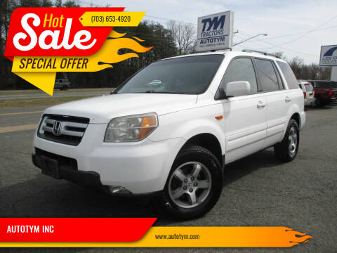 2007 Honda Pilot for sale at AUTOTYM INC in Fredericksburg VA