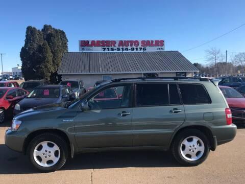 2005 Toyota Highlander for sale at BLAESER AUTO LLC in Chippewa Falls WI