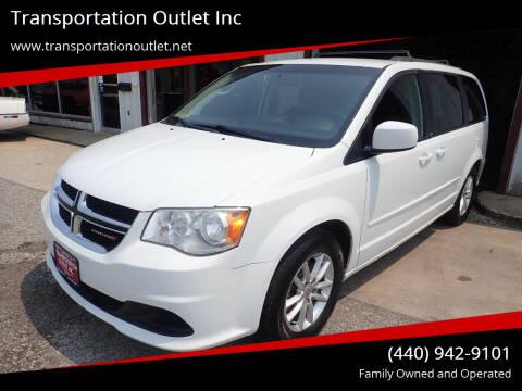 2014 Dodge Grand Caravan for sale at Transportation Outlet Inc in Eastlake OH