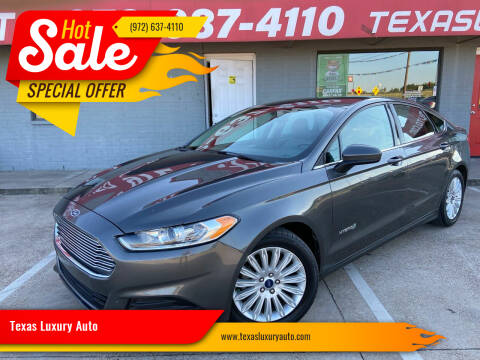 2015 Ford Fusion Hybrid for sale at Texas Luxury Auto in Cedar Hill TX