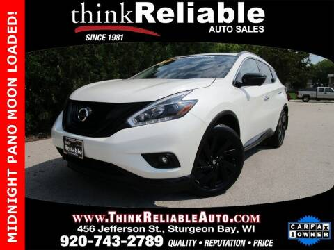 2018 Nissan Murano for sale at RELIABLE AUTOMOBILE SALES, INC in Sturgeon Bay WI