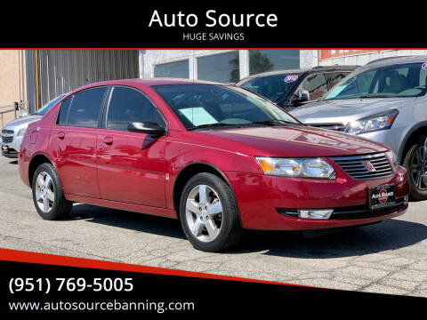 2006 Saturn Ion for sale at Auto Source in Banning CA