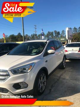 2017 Ford Escape for sale at Gralin Hampton Auto Sales in Summerville SC