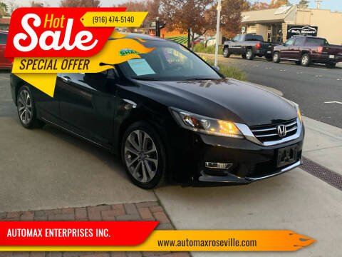 2013 Honda Accord for sale at AUTOMAX ENTERPRISES INC. in Roseville CA