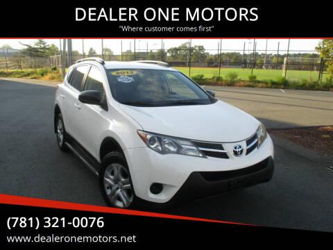 2013 Toyota RAV4 for sale at DEALER ONE MOTORS in Malden MA