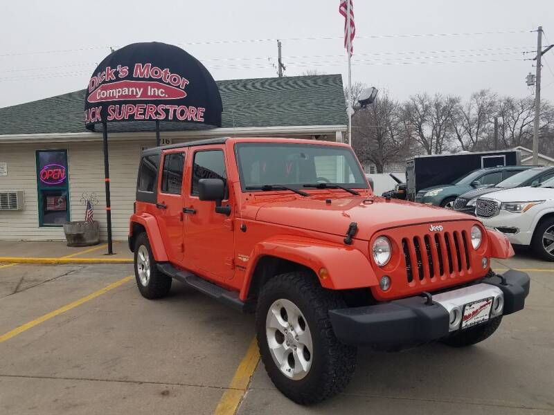 2015 Jeep Wrangler Unlimited for sale at DICK'S MOTOR CO INC in Grand Island NE