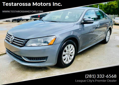 2015 Volkswagen Passat for sale at Testarossa Motors Inc. in League City TX