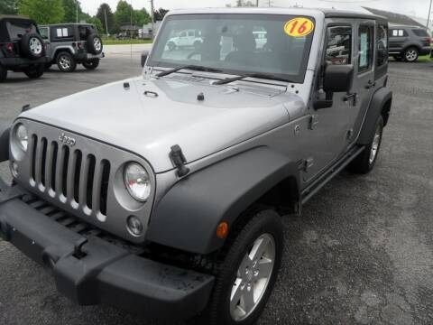 2016 Jeep Wrangler Unlimited for sale at CARSON MOTORS in Cloverdale IN