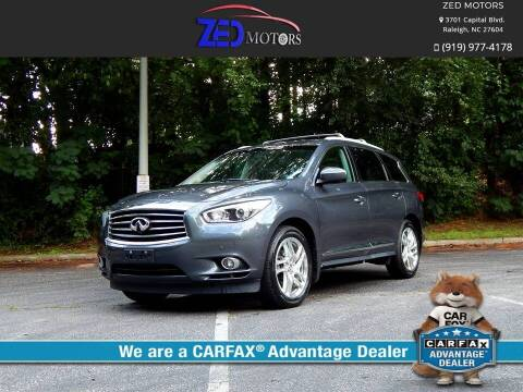 2013 Infiniti JX35 for sale at Zed Motors in Raleigh NC
