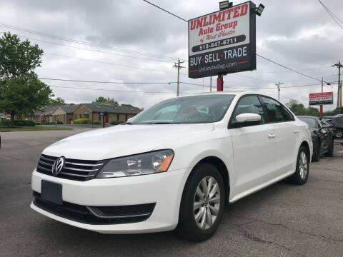 2013 Volkswagen Passat for sale at Unlimited Auto Group in West Chester OH