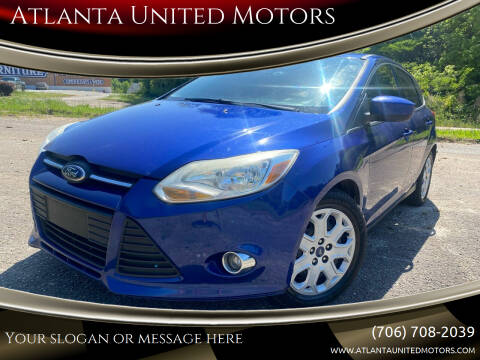 2012 Ford Focus for sale at Atlanta United Motors in Jefferson GA
