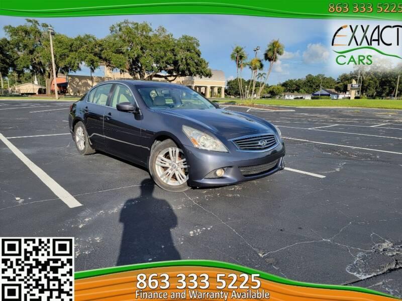 2010 Infiniti G37 Sedan for sale at Exxact Cars in Lakeland FL