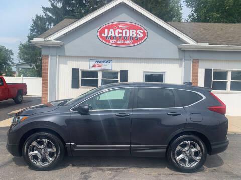 2017 Honda CR-V for sale at Jacobs Motors LLC in Bellefontaine OH