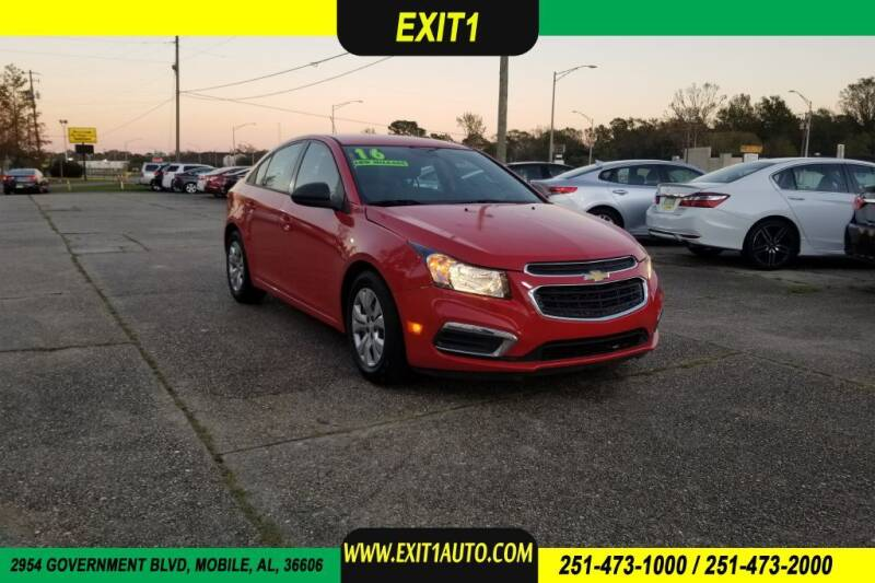 2016 Chevrolet Cruze Limited for sale at Exit 1 Auto in Mobile AL
