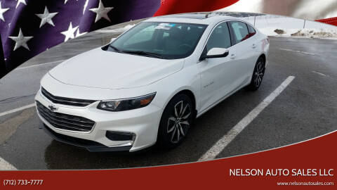 2018 Chevrolet Malibu for sale at Nelson Auto Sales LLC in Harlan IA