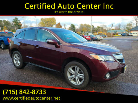 2014 Acura RDX for sale at Certified Auto Center Inc in Wausau WI
