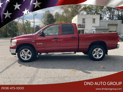 2008 Dodge Ram Pickup 1500 for sale at DND AUTO GROUP in Belvidere NJ