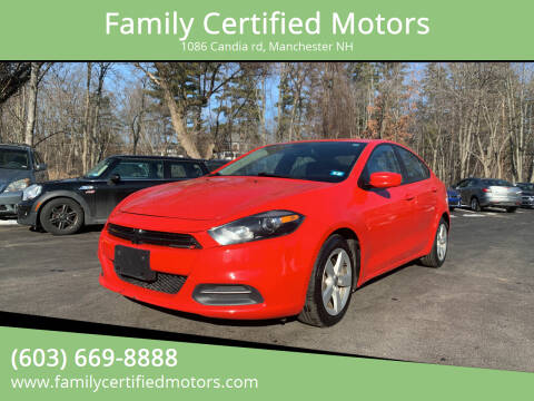 2016 Dodge Dart for sale at Family Certified Motors in Manchester NH