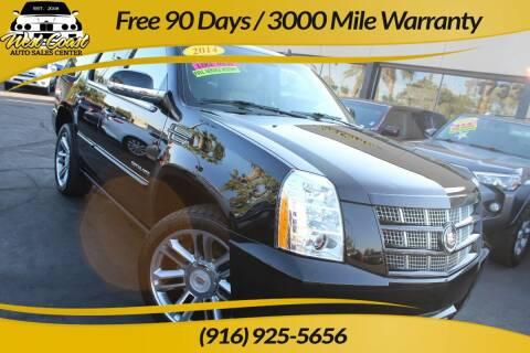2014 Cadillac Escalade for sale at West Coast Auto Sales Center in Sacramento CA