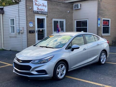 2018 Chevrolet Cruze for sale at Major Key Motors in Lebanon PA