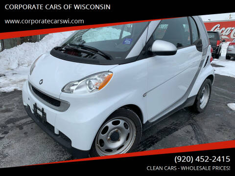 2012 Smart fortwo for sale at CORPORATE CARS OF WISCONSIN in Sheboygan WI