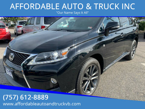 2014 Lexus RX 350 for sale at AFFORDABLE AUTO & TRUCK INC in Virginia Beach VA