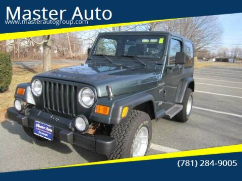 2002 Jeep Wrangler for sale at Master Auto in Revere MA
