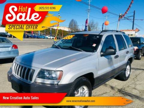 2004 Jeep Grand Cherokee for sale at New Creation Auto Sales in Everett WA