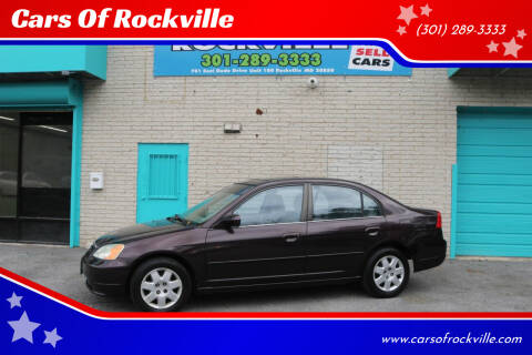 2001 Honda Civic for sale at Cars Of Rockville in Rockville MD