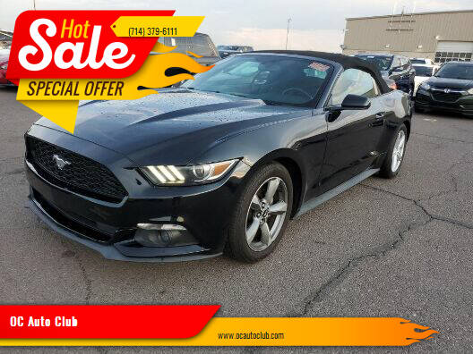 2016 Ford Mustang for sale at OC Auto Club in Midway City CA