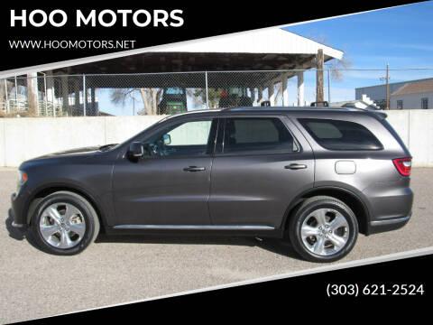 2014 Dodge Durango for sale at HOO MOTORS in Kiowa CO