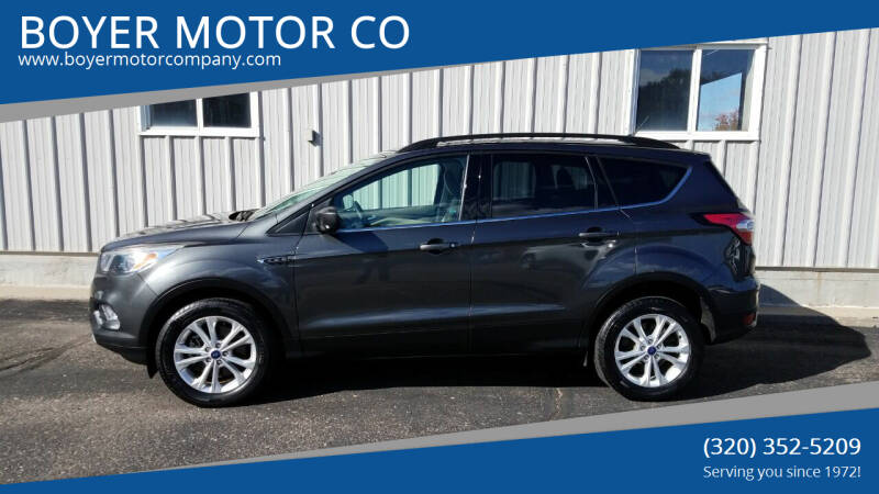 2018 Ford Escape for sale at BOYER MOTOR CO in Sauk Centre MN