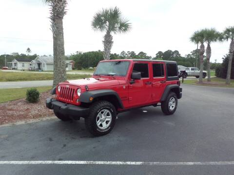 2014 Jeep Wrangler Unlimited for sale at First Choice Auto Inc in Little River SC
