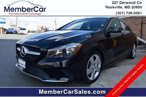 2017 Mercedes-Benz CLA for sale at MemberCar in Rockville MD