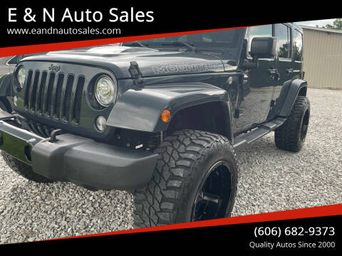 2017 Jeep Wrangler Unlimited for sale at E & N Auto Sales in London KY