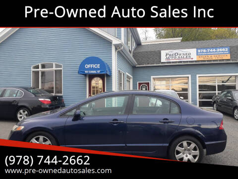 2010 Honda Civic for sale at Pre-Owned Auto Sales Inc in Salem MA