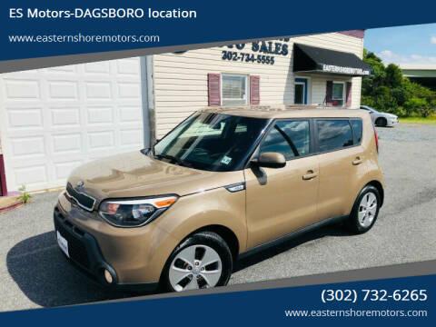 2015 Kia Soul for sale at ES Motors-DAGSBORO location in Dagsboro DE
