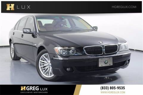 2006 BMW 7 Series for sale at HGREG LUX EXCLUSIVE MOTORCARS in Pompano Beach FL