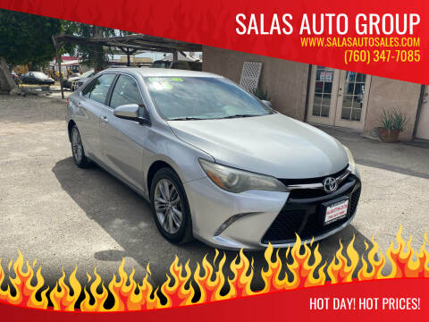 2016 Toyota Camry for sale at Salas Auto Group in Indio CA