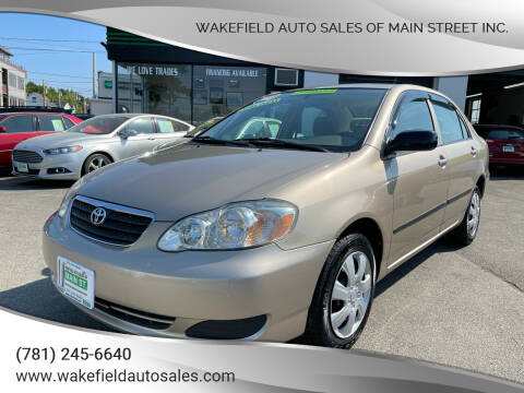 2008 Toyota Corolla for sale at Wakefield Auto Sales of Main Street Inc. in Wakefield MA