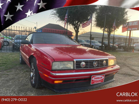 1993 Cadillac Allante for sale at CARBLOK in Lewisville TX