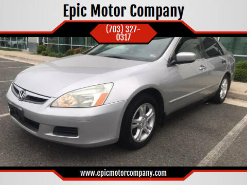 2006 Honda Accord for sale at Epic Motor Company in Chantilly VA