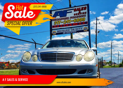 2003 Mercedes-Benz E-Class for sale at A F SALES & SERVICE in Indianapolis IN