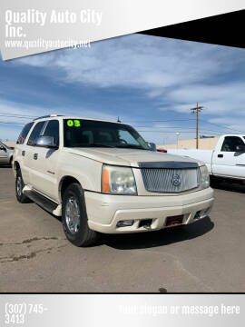2003 Cadillac Escalade for sale at Quality Auto City Inc. in Laramie WY