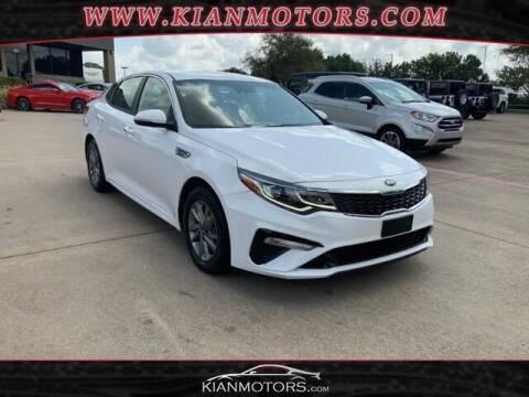 2019 Kia Optima for sale at KIAN MOTORS INC in Plano TX