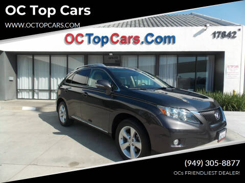 2010 Lexus RX 350 for sale at OC Top Cars in Irvine CA