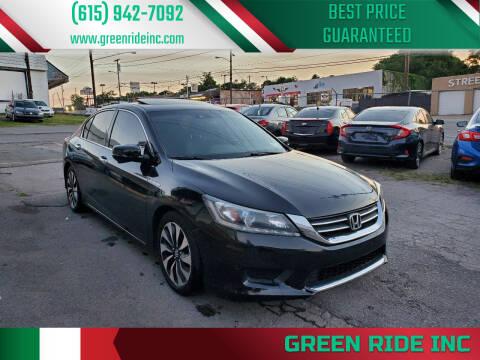 2015 Honda Accord Hybrid for sale at Green Ride Inc in Nashville TN