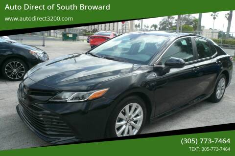2018 Toyota Camry for sale at Auto Direct of South Broward in Miramar FL