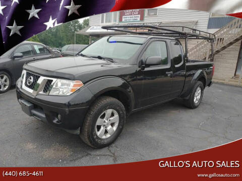 2013 Nissan Frontier for sale at Gallo's Auto Sales in North Bloomfield OH