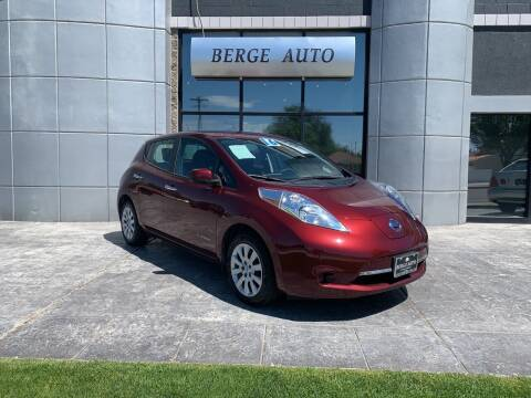 2016 Nissan LEAF for sale at Berge Auto in Orem UT